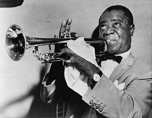 Louis Armstrong à la trompette